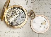 CONCEALED EROTIC AUTOMATON With REPEATER Antique Pocket Watch in 18k Gold Case