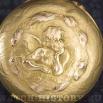 Antique golden lady pocket watch with putty by Raphael