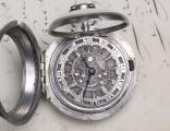 PAIR CASED OTTOMAN TURKISH Verge Fusee Antique Pocket Watch w/ CHAMPLEVE DIAL