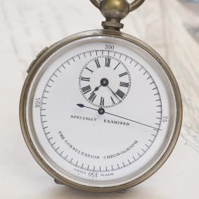 Antique keywind pocket Consultation Chronograph Doctor's watch from XIX century
