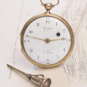 Antique 1780s Verge Fusee Pocket watch by Gregson in Paris