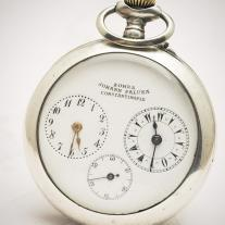 Antique solid sIlver Captain Two-train Pocket Watch for Ottoman/Islamic Market