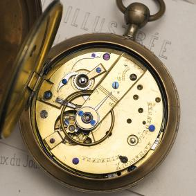 Antique DOUBLE WHEEL DUPLEX REPEATER Repeating POCKET WATCH by F. JURGENSEN