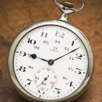 Beautiful Antique OMEGA Gents Pocket Watch Running