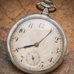 Nice Antique Swiss Solid Sterling Silver Gents Pocket Watch