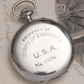 Antique WWI 1916 IWC - CORPS OF ENGINEERS USA Silver Pocket Watch