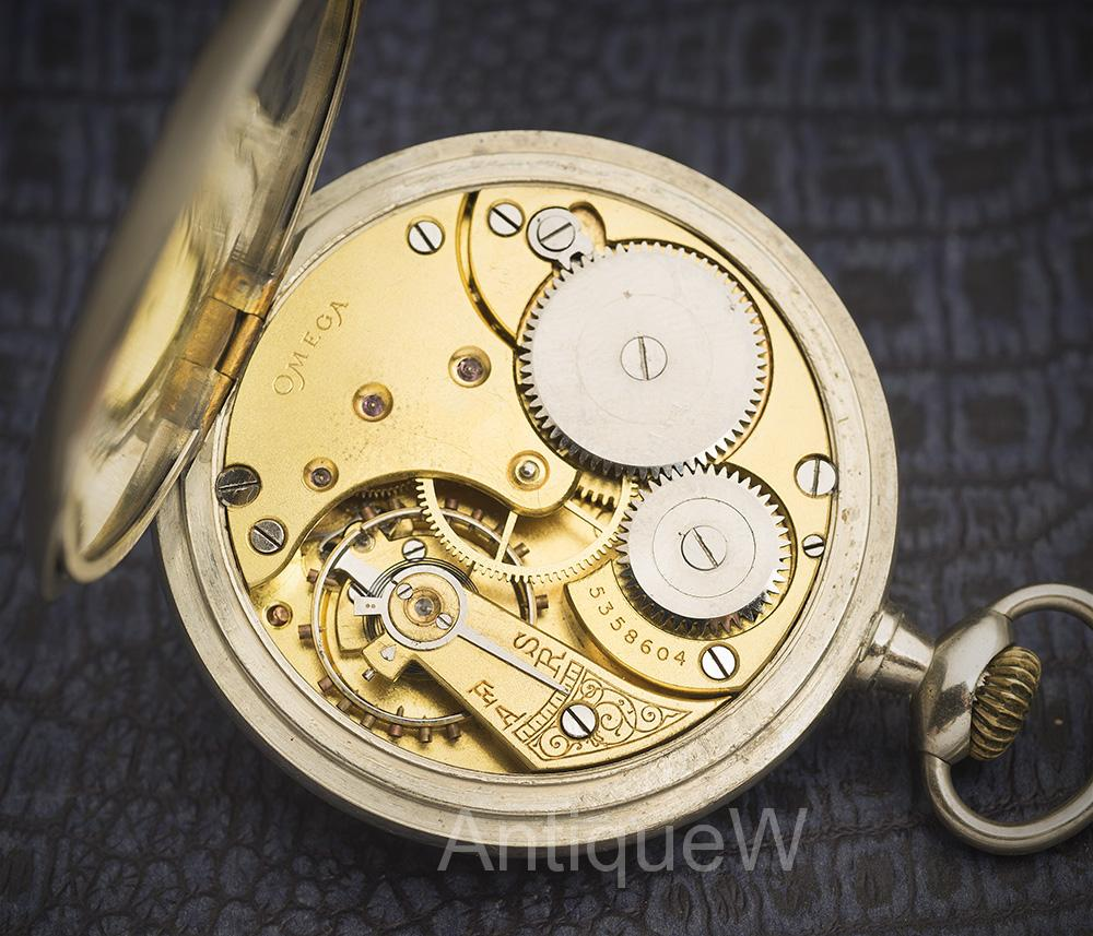 Antique 1918 Gentelman Pocket Watch By Omega Watches At You Will Find The Serial Number