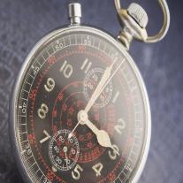 WW2 Hanhart KM artillery pocket chronograph watch