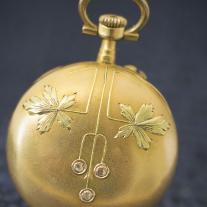 Antique French golden lady watch in Art Nouveau taste