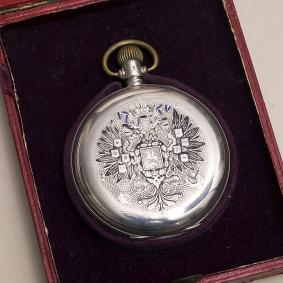 Antique Silver Paul Buhre Павел Буре watch with Eagle - IMPERIAL GIFT