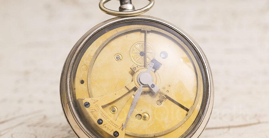 Rare-late-XVIII-POUZAIT-lever-escapement---German-Antique-Pocket-Watch