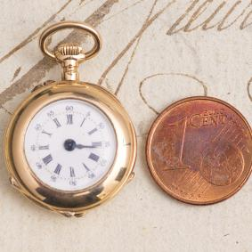 19mm diameter only - One of the Smallest Pocket Watches base LeCoultre ebauche