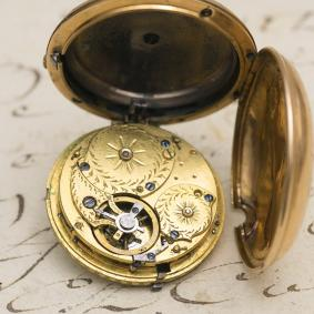 Rare MINIATURE Quarter REPEATING Gold Pocket Watch, only 30mm